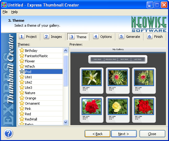 Click to view Express Thumbnail Creator 1.81 screenshot