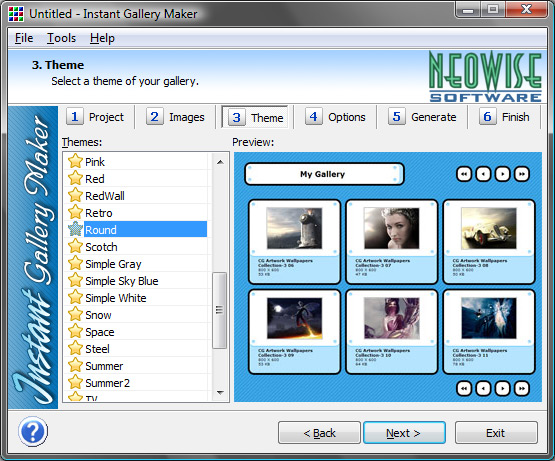 Instant Gallery Maker Web Gallery Software Web Photo